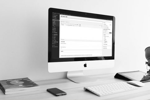 WordPress on an iMac Screen Awesome