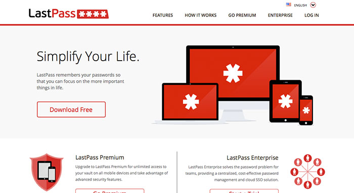 LastPass cloud password manager