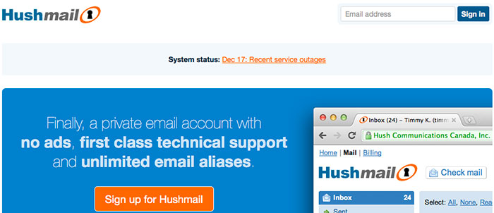 Hushmail Email Option Encryption HIPPA
