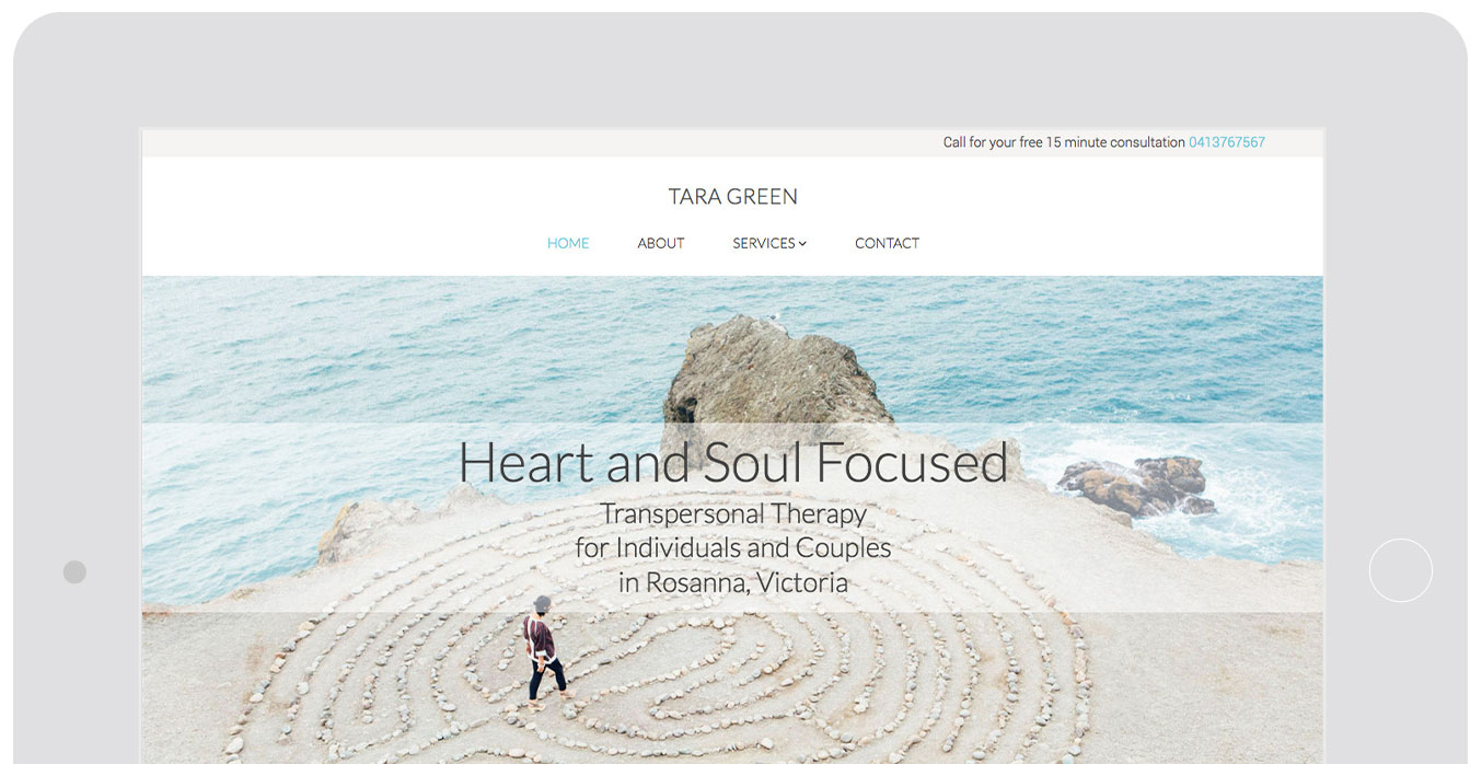 Therapy website design showcase featuring actual therapist websites