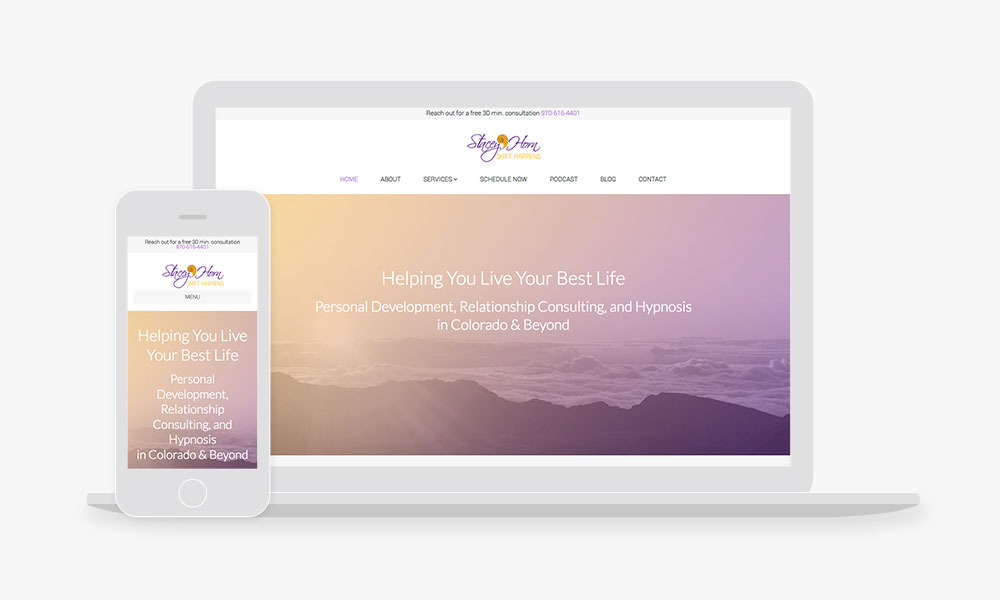 Example therapist website design with Empathysites