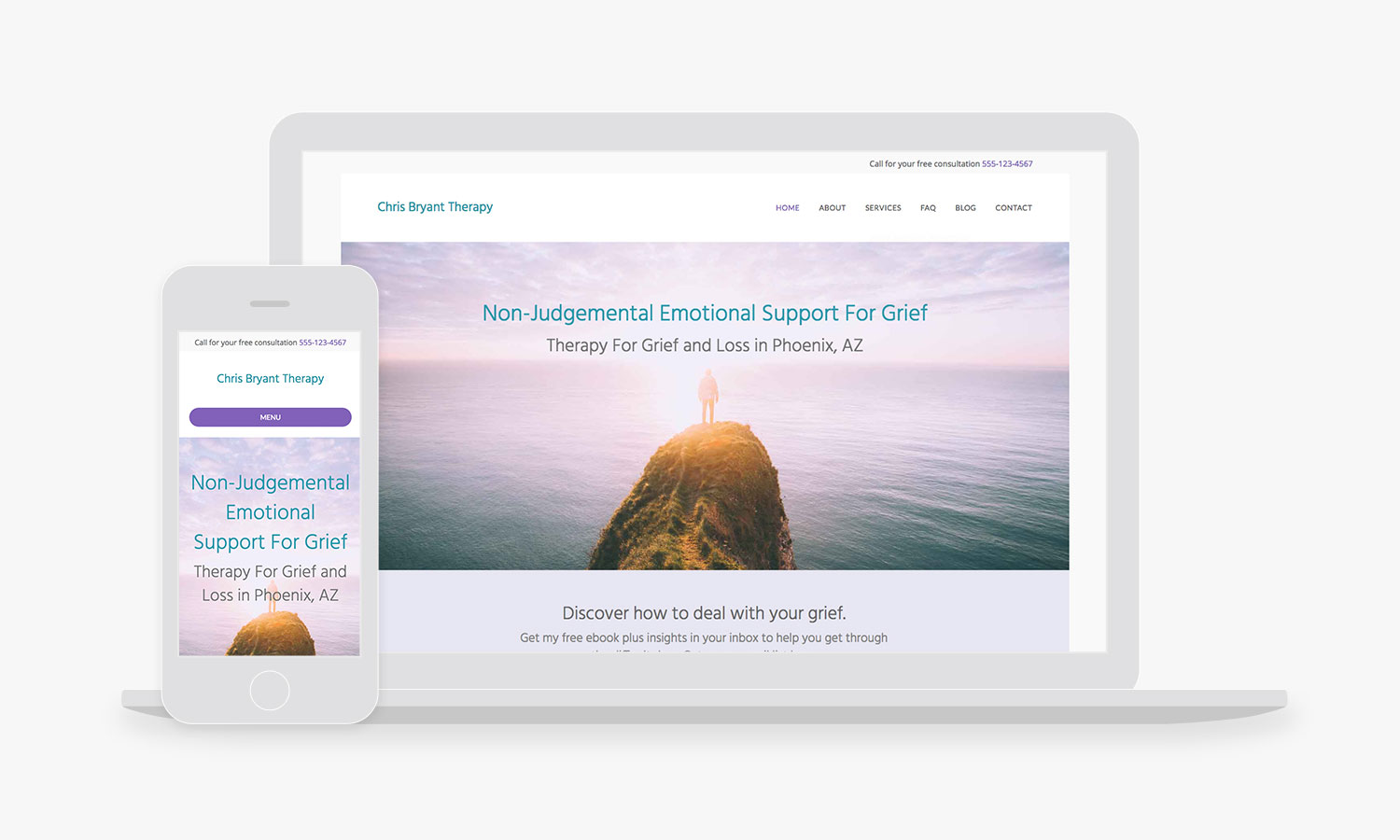 psychotherapy website design templates and themes empathysites