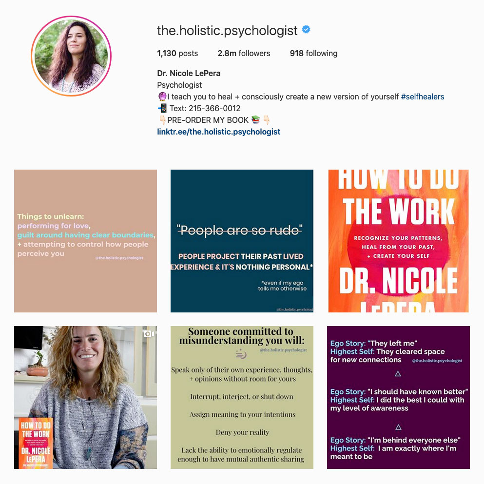 dr-nicole-lepera-best-therapist-on-instagram-account